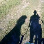 Fahrradfahren mit dem Pony